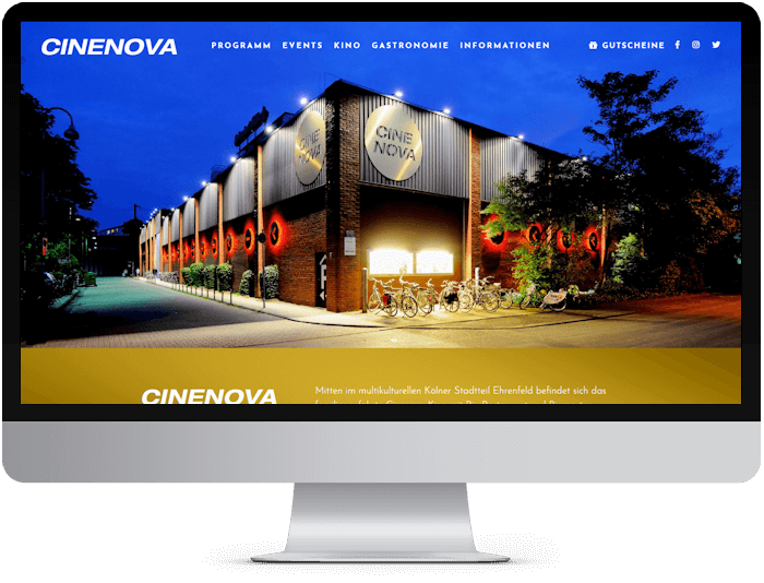 cinenova web development